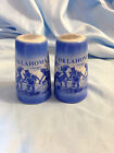Oklahoma Souvenir Salt and Pepper Will Rogers Memorial Natl Cowboy Hall of Fame