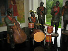 ANTIQUE HAND PAINTED BLACK AMERICANA JAZZ BAND FIGURE FIGURINE DETROIT 1920s