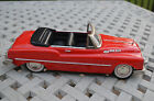 1950's BUICK PRESSED STEEL TOY FRICTION  CONVERTIBLE RED