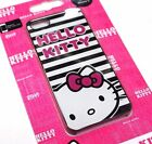 HELLO KITTY Cute Black White Stripes Hot Pink Hard Snap on Case for iPhone 5