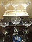 *VINTAGE* Waterford Crystal POWERSCOURT (1969-)6 Champagne Tall Sherbet 5.5