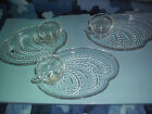 Vintage Teardrop Snack Set, 3 piece - 3 cups & 3 snack plates-No cracks or chips