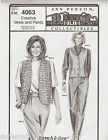Ann Person Collectibles Creative Vests and Pants Pattern 4063 Hip 32-48 Uncut