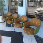 4 KNOLL SAARINEN EXECUTIVE ARM CHAIRS IN ANDREW GIRARD FABRIC