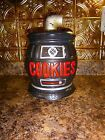 VINTAGE~ BLACK POT BELLY STOVE~ COOKIE/TREAT JAR~