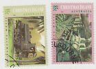 (CIA-47) 1994 Christmas Island 2 steam locomotive stamps (B)