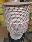 1 2 X 100 Halyard sail line polyester double braid 8500 USA White Red Tracer