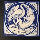Mintons China Works - John Moyr Smith - Aesop's Fable Tile - The Wolf and Crane