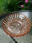 Federal Glass Pioneer Pink Sawtooth Ribbed Fruit Pattern Dish 7