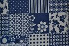 Joann Snuggle Flannel Blue  White Quilt Cotton Quilting Fabric By the Yard