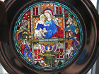 1985 Stained Glass Christmas Plate Church Of The Advent / US Historical Society