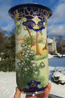 Striking Antique Porcelain Hand Painted Nippon Vase Cobalt Gold Trees
