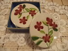 Home Studio Garden Bouquet DINNERWARE COASTERS (RED) BEAUTIFUL HAND PAINTED-NEW
