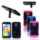 Hybrid Heavy Duty Shockproof Cover Case Stand for Samsung Galaxy S5 Sport G860