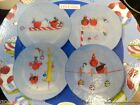 Oneida Frosty Feathers Set of 4 Salad / Dessert Plates New In Box 8-1/4