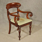 Antique Scroll Arm Study Desk Side Chair Quality English Regency Mahogany c1830