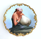 L. R. L. Limoges France Hand painted Porcelain Portrait Plate By Artist Baumy