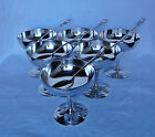 RARE CHRISTOFLE ICE CREAM CUPS GOBLETS AND SPOONS set of six