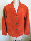 CHICOS RUST SUEDE L/S JACKET SZ 3 NWOT GENUINE SUEDE LEATHER FULLY LINED BARGAIN
