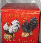Certified International Golden Rooster Salt & Pepper Shakers in Gift Box