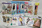 Lot of 18 Assorted Sewing Patterns, costumes-clothing-pillows-purses MOST UNCUT