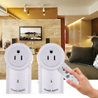 Remote Control Sockets Wireless Switch Outlet Home Light US Plug AC Power 2 Pack