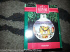 HALLMARK Keepsake 1991 PEANUTS GLASS BALL SNOOPY & Friend CHRISTMAS ORNAMENT New