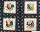 Patchwork Quilting Sewing Fabric FRENCH COUNTRY ROOSTER Quilt Panel 60x110 New