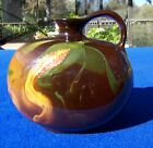 Antique Louwelsa Weller Pottery Small Whisky Jug With Ear of Corn 1896-1900's