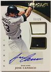 2015 Immaculate Collection JOSE CANSECO AUTO DUAL Game WORN Jersey Relic 12 25