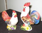ROOSTER AND HEN SALT AND PEPPER SHAKERS