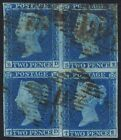 1841 2d Blue Plate 4 SD TE Block of 4 TD STATE ONE Cat 130000