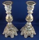 19thC Derby Porcelain Pair of Candlesticks Candle Holders Sticks English England