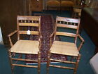 Pair Antique Victorian Arm Chairs with Cane Seats Excellent Condition