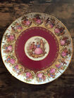 Antique 1870's Dresden Frangonard Charger Decorative Plate  Courting Couple
