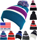 Beanie Long Solid Color Hat Knit Winter Plain Cap Skull Ski Warm Unisex New Cuff