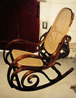 Bentwood Rocking chair Mid Century Modern, Wood Circles / Spiral