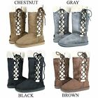 New Womens Mid Calf Winter Snow Fur Suede Fashion comfortable Boots Size 5 10