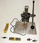 Jackson Marking STAMP DIE CUTTER press with blades hole punches