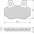 Sintered Goldfren Brake Pads For Hyosung RX 125 SM Front RH 2006-2010
