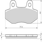 Sintered Goldfren Brake Pads For Hyosung GV 125 C Aquila Front RH 2009-2010