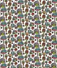 MUSHROOM FOREST Picnic Whimsey Animals Birch Certified Organic Cotton Fabric BTY