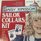 Daisy Kingdom Sailor Collars Kit Girl And Doll Size Dress Collar Trim 4 Pc Vtg