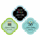 50 Personalized Themed Adult Birthday Party Favor Label Asst. Designs