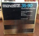 Vintage Maxell 35-90 Sound Recording Tape Reel To Reel Sealed New Japan Blank OG