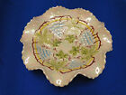 Vintage White Pearl Pearlized CFC Truffle Ruffle Ceramic Bowl Grapes Leaf 8