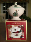New in Box SPODE CHRISTMAS TREE Green-Trim Open Pierced 6