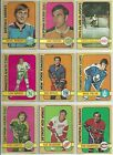 1972 72-73 OPC O-PEE-CHEE VINTAGE LOT OF 73 DIFFERENT CARDS GRADE GOOD EXCELLENT