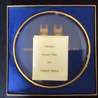 COLLECTIBLE Vintage 1971 ORREFORS Westminster Abbey Engraved Crystal Plate