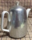 Waku Pottery Mid Century Modern Germany Hammered Aluminum Coffee Tea Pot